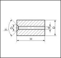 Изделия для высадки, форма 2, d=7.3 мм