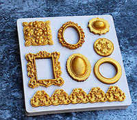 Молд палетка на 8 форм для шоколада, карамели, льда, заливки смолой или пластиком,глин