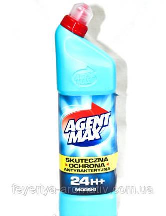 Средство для чистки унитаза AGENT MAX 1,1л Морская свежесть