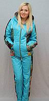 Костюм зимний с плащевки голубой, фото 1