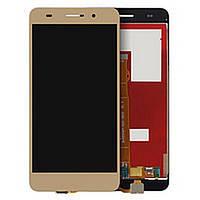 Дисплей Huawei Y6 II (CAM-L21)/Honor 5A (CAM-AL00) с сенсором, золотистый