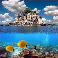Фотообои море горы и подводный мир