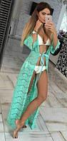 Женская пляжная накидка гипюровая  фел7009, фото 1