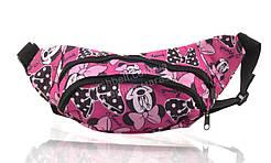 Удобная цветная женская -девичья сумка на пояс МИНИМаус art. 39 (102909) Украина