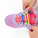 Силиконовые ленивые шнурки для обуви белые набор, фото 4