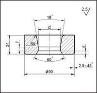 Заготовки для волочения проволоки и прутков круглого сечения, форма 20, d=54.5