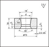 Заготовки для волочения проволоки и прутков круглого сечения, форма 19, d=41.5 мм