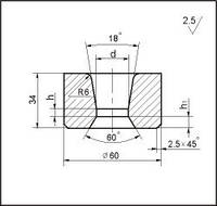 Заготовки для волочения проволоки и прутков круглого сечения, форма 18, d=15.5 мм