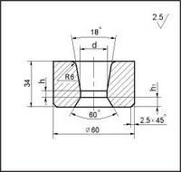 Заготовки для волочения проволоки и прутков круглого сечения, форма 18, d=19.5 мм