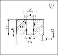 Заготовки для волочения проволоки и прутков круглого сечения, форма 17, d=24.5 мм