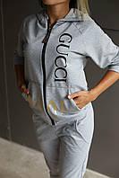 Костюм женский спортивный Gucci.Серый