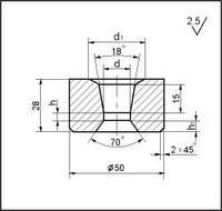 Заготовки для волочения проволоки и прутков круглого сечения, форма 16, d=21.5 мм