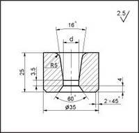 Заготовки для волочения проволоки и прутков круглого сечения, форма 15, d=15.0 мм
