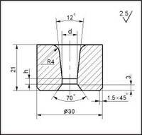 Заготовки для волочения проволоки и прутков круглого сечения, форма 13, d=7.7 мм