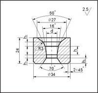 Заготовки для волочения проволоки и прутков круглого сечения, форма 14, d=16.5 мм