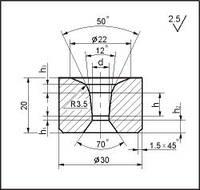 Заготовки для волочения проволоки и прутков круглого сечения, форма 12, d=7.0 мм