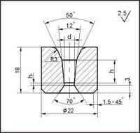 Заготовки для волочіння дроту і прутків круглого перерізу, форма 11, d=2.8 мм