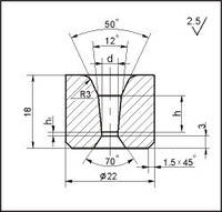 Заготовки для волочіння дроту і прутків круглого перерізу, форма 11, d=5.2 мм