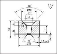 Заготовки для волочения проволоки и прутков круглого сечения, форма 10, d=4.7 мм