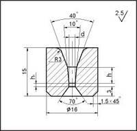 Заготовки для волочения проволоки и прутков круглого сечения, форма 9, d=1.0