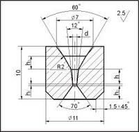 Заготовки для волочения проволоки и прутков круглого сечения, форма 6, d=0.8 мм