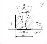 Заготовки для волочіння дроту і прутків круглого перерізу, форма 7, d=0.5 мм