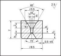 Заготовки для волочения проволоки и прутков круглого сечения, форма 5, d=0.1 мм