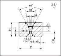 Заготовки для волочения проволоки и прутков круглого сечения, форма 3, D=8.0