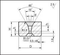 Заготовки для волочения проволоки и прутков круглого сечения, форма 3, D=6.0