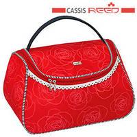 61b0c55d453b Reed - Косметичка 7546 Marina blue красная, чемодан ручка средняя  22,5x14х14,5