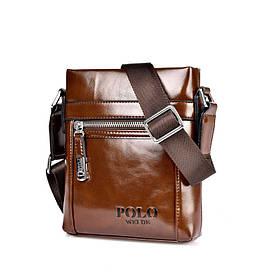 Чоловіча сумка через плече Polo Vertikal Темно-коричневий