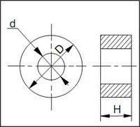 Изделия для штампов, форма 3, D=80