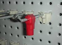 Stop Lock, Стоп лок фиксатор товара на крючке 6 мм., красный