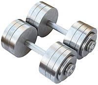 Гантели наборные 2*28 кг (Общий вес 56 кг) Металл (металеві гантелі розбірні наборні разборные для дома), фото 1