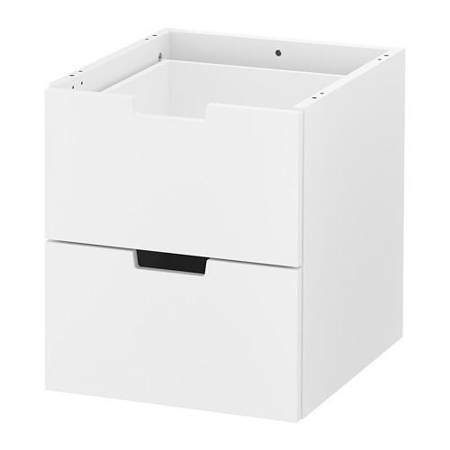 Комод с 2 ящиками IKEA NORDLI 40x45 см модульный белый 903.834.57