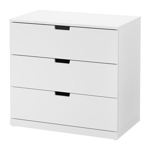 Комод с 3 ящиками IKEA NORDLI 80x76 см белый 692.394.95