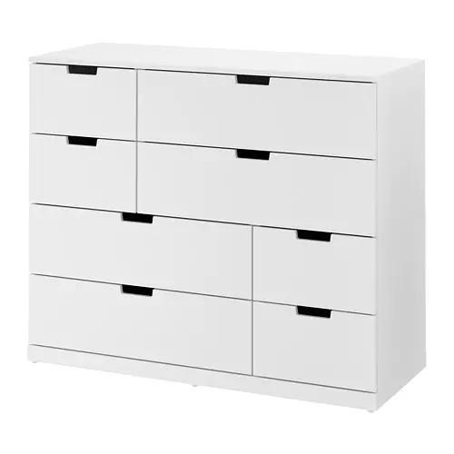 Комод с 8 ящиками IKEA NORDLI 120x99 см белый 792.395.03