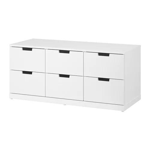 Комод с 6 ящиками IKEA NORDLI 120x54 см белый 292.394.97