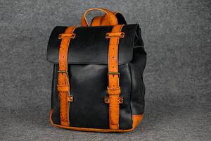 Мужской рюкзак HANKLE H1 |13226| Черный+Янтарь