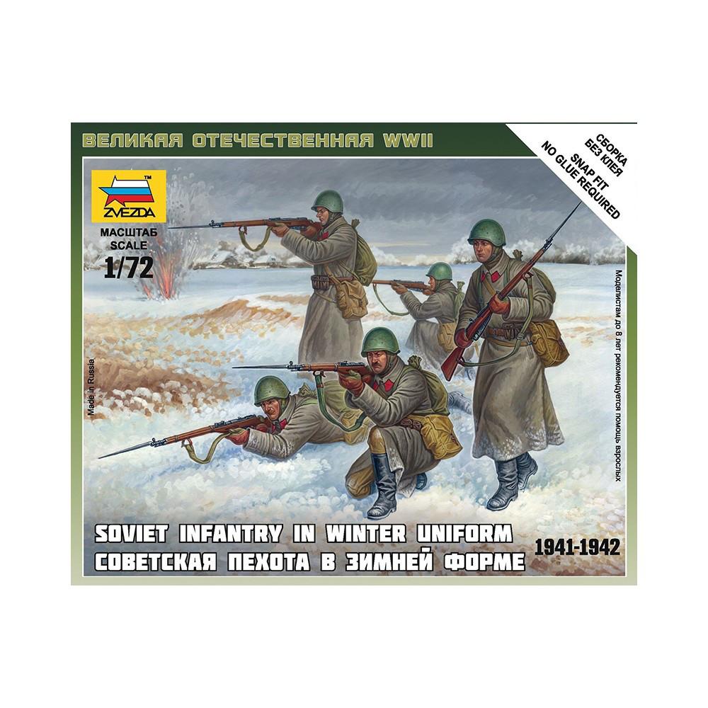СОВЕТСКАЯ ПЕХОТА В ЗИМНЕЙ ФОРМЕ 1941-1942. 1/72 ZVEZDA 6197