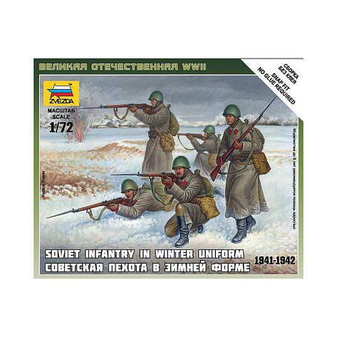 СОВЕТСКАЯ ПЕХОТА В ЗИМНЕЙ ФОРМЕ 1941-1942. 1/72 ZVEZDA 6197  , фото 2