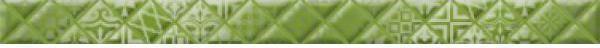 Фриз Golden Tile Relax Aura зеленый 40х3