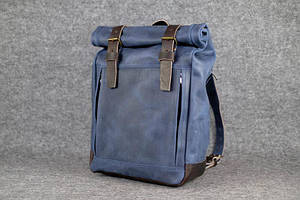 Мужской рюкзак HANKLE H7 |13239| Синий+Кофе