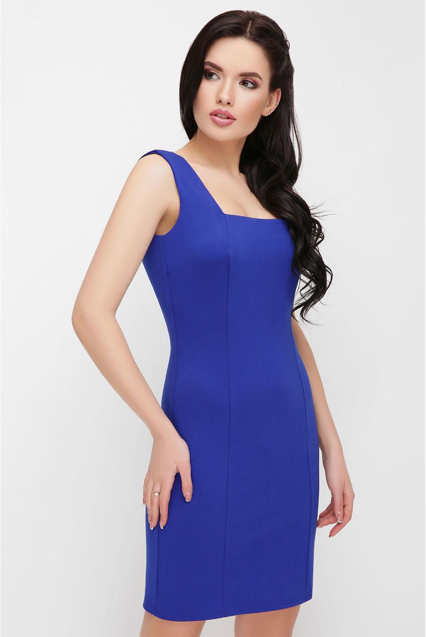 Стильное синее мини платье, фото 1