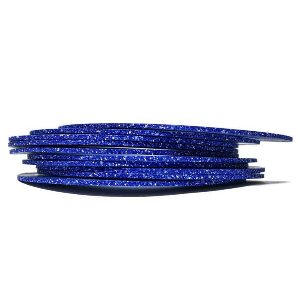 Цукрова нитка для нігтів в рулоні STZ синій 1 мм