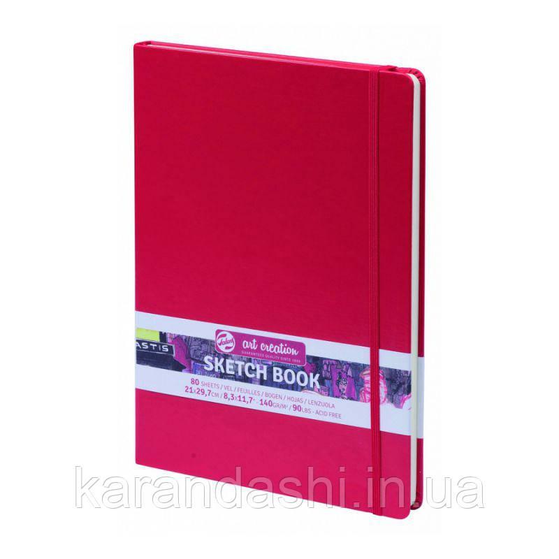 Блокнот для графики Talens Art Creation 21*29,7см 80л 140г/м красная обложка