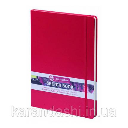 Блокнот для графики Talens Art Creation 21*29,7см 80л 140г/м красная обложка, фото 2