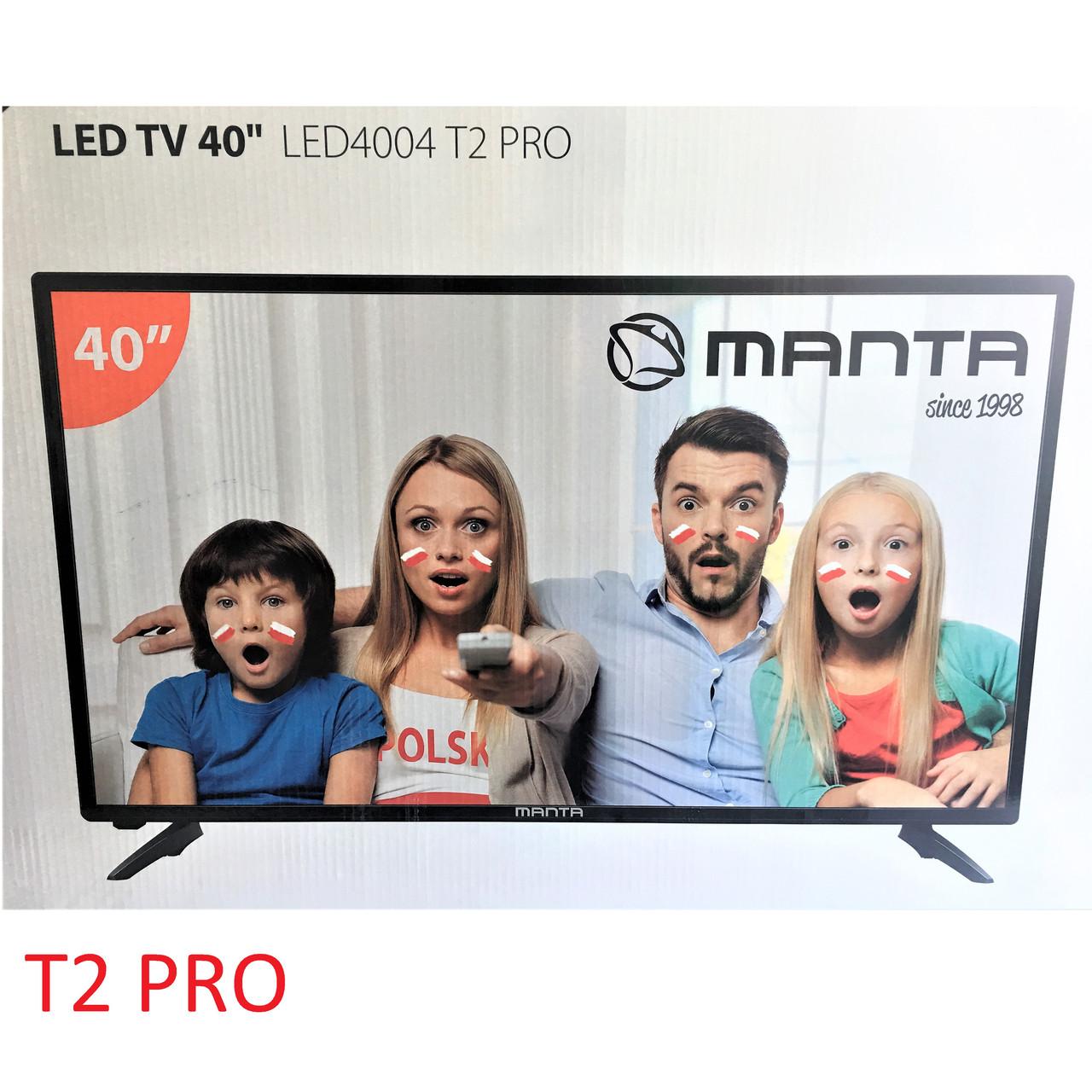 Телевизор Manta LED4004T2 PRO (FullHD,DVB-T2/T,C)