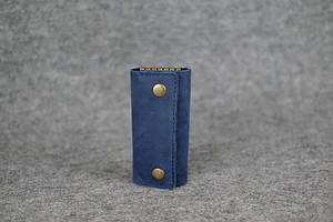 Кожаная ключница |40200| Синий
