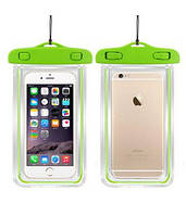 Водонепроницаемый чехол для смартфона Aqualight светящийся зеленый, фото 1